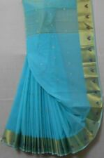 Cotton Booti All Over Saree With Heart Zari Brocade