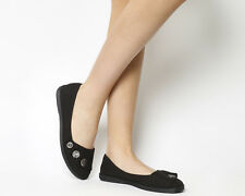Womens Blowfish Gayls Pumps Black Rancher Canvas Flats