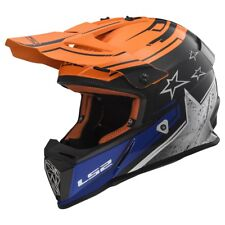 LS2 MX437FAST Core Naranja todoterreno MX ATV Motocross Quad Moto Casco