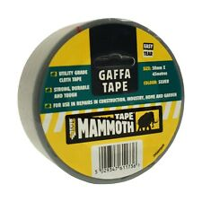 DUCT TAPE EVERBUILD MAMMOTH GAFFA TAPE, EASY TEAR BLACK & SILVER 50mm x 45m