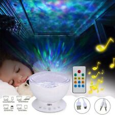 Ocean Wave Projector Music Player LED Night Light Remote Lamp Bedroom Sleep Gift