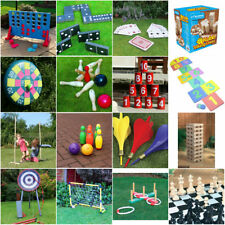 GIANT GARDEN GAMES OUTDOOR SUMMER BEACH BBQ KIDS FUN GAMES QUOITS JENGA LIMBO