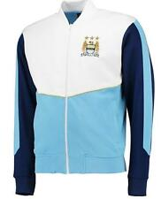 Manchester City Fc Hombre Oficial tricot Chaqueta Blanco/Azul mmy1788zr
