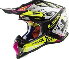 LS2 MX470 SUBVERTER TRIPLEX NERO GIALLO ROSA OFF ROAD MX Moto Quad Casco