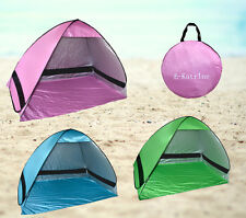 Automatic Tent with UV Protection Pop Up Popup Tent Beach Sunshade Pink Blue