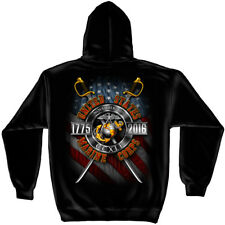 USMC Marine Corps Birthday 2016 Hooded Sweat Shirt Black