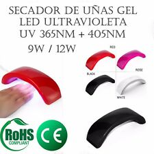Secador de Uñas Gel Lampara Led UV Ultravioleta 9W - 12W - Manicura Pedicura