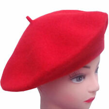 New Ladies Girls Plain Color Beret Hat French Beret Fashion Wool Hat Winter Hat