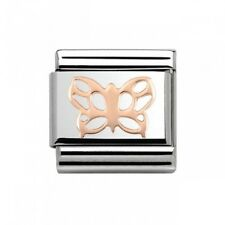 Nomination Italy Genuine Nominations Rose Gold Butterfly Classic Charm