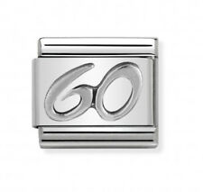 Nomination Italy Nominations Silver Occasion 60 Birthday Anniversary Charm Tool