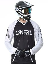 Oneal Greg Minnaar Black-White 2018 Element FR Blocker Long Sleeved MTB Jersey