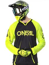 Oneal Greg Minnaar Black-Hi Viz 2018 Element FR Blocker Long Sleeved MTB Jersey