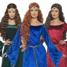 Ladies Medieval Maiden Robin Hood Maid Marion Costume Womens Fancy Dress Outfit