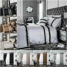 New Luxury DIVA  Duvet Cover Sets / Fully Lined Curtains/Cushion Covers/ Door