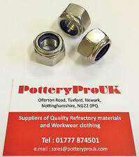 A4 STAINLESS NYLOC INSERT NUTS MARINE GRADE STANDARD PITCH M3 M4 M6 M8 M10 M12