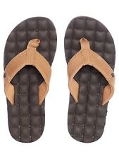Volcom Brown Combo Recliner Leather Flip Flop