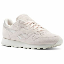 SCARPE SNEAKER REEBOK CLASSIC LEATHER SHIMMER, PELLE, ROSA / BIANCO, DONNA