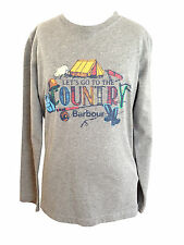 BOYS BARBOUR Camping Tee Shirt Long Sleeved - Age 12/13