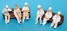 Painted 6 Seated Cricketers waiting to play OO Scale 1:76 PAINTED Model