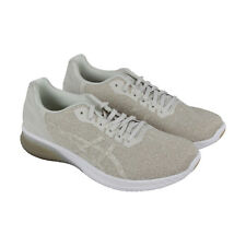 Asics Gel Kenun Mens Beige Textile Athletic Lace Up Running Shoes