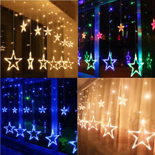LED Star Fairy Light Window String Lights Christmas Xmas Party Decor Multi Color