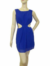 Cobalt blue sexy cut out side mini dress in 10 or 12