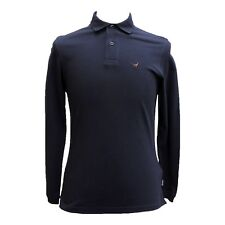 Barbour Warkworth Long-Sleeved Polo Shirt in Navy - XXL
