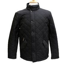 Barbour Mens Powell Quilted Jacket in Black - Size M