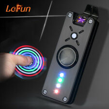 Fidget Hand Spinner Dual Arc Cigarette Lighter Stress reliever Toy LED Flash USB