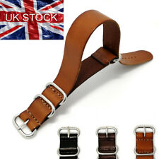 Band Watch Strap Genuine Leather 18mm 20mm 22mm Wristwatch Belt For Nato ZULU