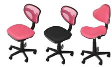 Black Red Pink Cushioned Ergonomic Computer Desk Office Chair Lift Swivel NEW