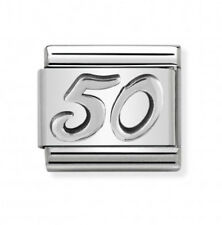 Nomination Italy Nominations Silver Occasion 50 Birthday Anniversary Charm Tool