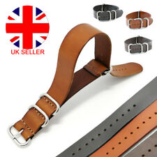 Nato Watch Strap Band  Leather Military G10 MoD SS Buckle Spring Bars 18 20 22MM