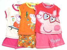 Niña Peppa Pig Camiseta y Pantalones Cortos Set 3 Colores Disponibles PP34521
