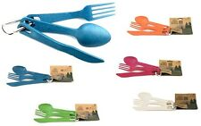 ecosoulife 3PC Cutlery Set Posate - Set 100% BIOLOGICO BIODEGRADABILE - NUOVO