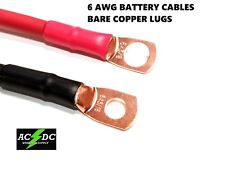 6 AWG Copper Battery Cable Power Wire Car, Marine, Inverter, RV, Solar