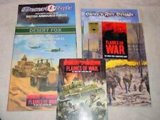 (5) Flames of War Rulebooks - The WWII Miniatures Game - Desert Fox & Rats +++
