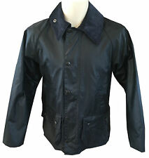 MENS BARBOUR Bedale Waxed Jacket in Navy - Size 50""
