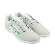 Diesel S-Aarrow Mens White Suede Lace Up Trainers Shoes
