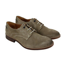 Hush Puppies Glitch Parkview Mens Gray Suede Casual Dress Oxfords Shoes