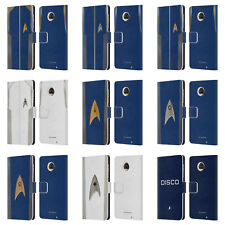 OFFICIAL STAR TREK DISCOVERY UNIFORMS LEATHER BOOK CASE FOR MOTOROLA PHONES
