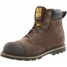 Buckler B301SM Anti-Scuff Safety Work Boots Chocolate Oil (Sizes 6-13) Men's