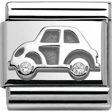 Nomination Italy Genuine Nominations Silver Car CZ Classic Charm Tool