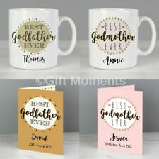 Personalied Godparent Mugs & Cards, Best Godfather or Godmother Ever
