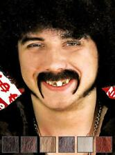 Real Hair Pimp 70s professional stage theatrical horseshoe handlebar moustache