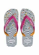 INFRADITO HAVAIANAS TOP FASHION, BIANCO / BLU / FUCSIA, ESTATE 2018, MARE, DONNA