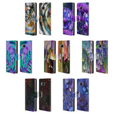 OFFICIAL HAROULITA ABSTRACT GLITCH LEATHER BOOK WALLET CASE FOR SAMSUNG PHONES 1