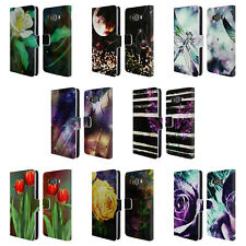 OFFICIAL HAROULITA ABSTRACT NATURE LEATHER BOOK WALLET CASE FOR SAMSUNG PHONES 2