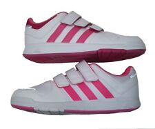 ADIDAS GIRLS LK 6 CF K TRAINERS WHITE/PINK UK 1 EUR 33 *MISMATCHED PAIR COLOUR*