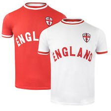 Mens Brave Soul Cotton Crew Neck World Cup T-Shirt with England Chest Print SS18